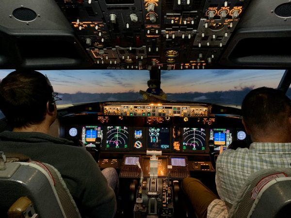 Flying in low-light conditions in our Boeing 737-800 simulator
