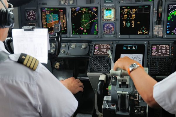 Experienced Pilots in a Boeing 737-800