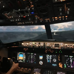 Coastal flying in our Boieing 737-800 Simulator