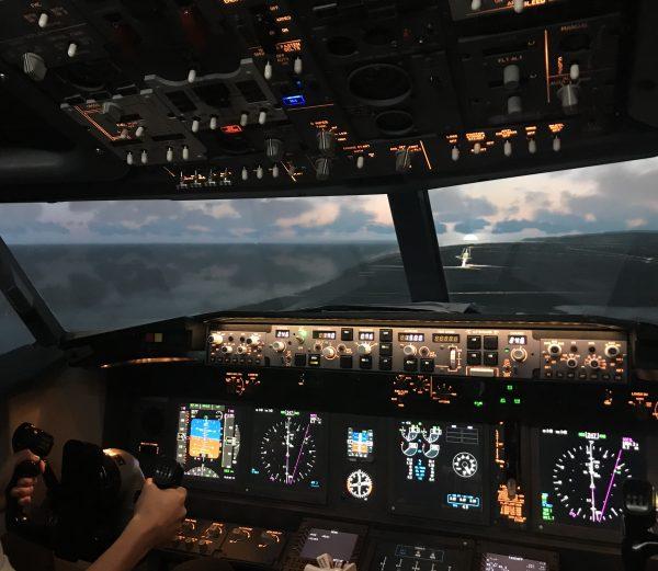 Coastal flying in our Boeing 737-800 Simulator