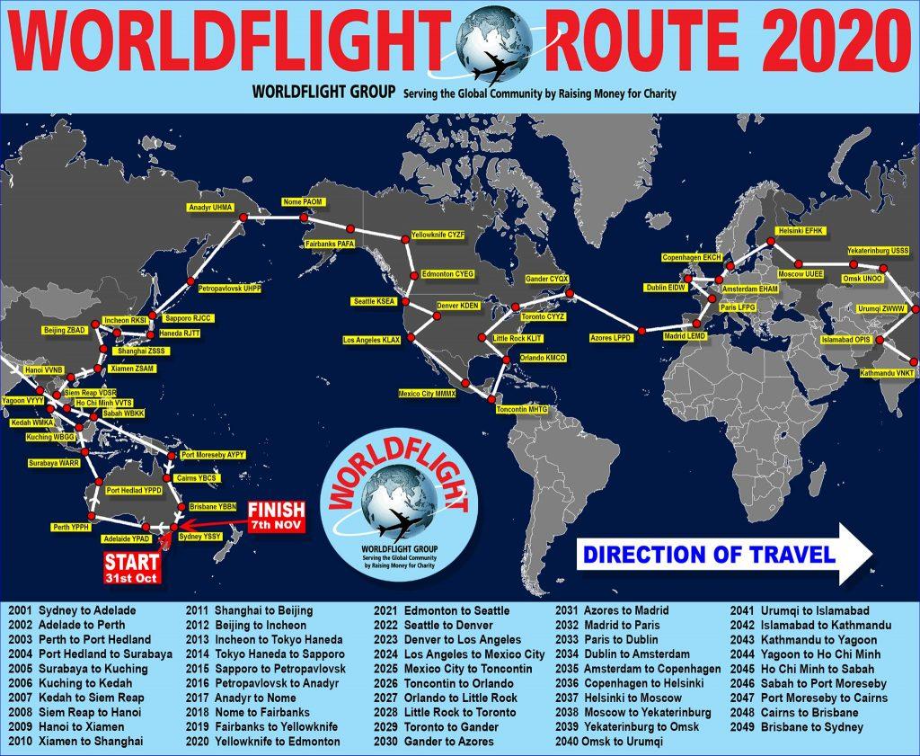 WorldFlight 2020 Map